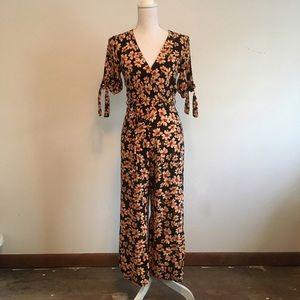 Top shop floral jumpsuit